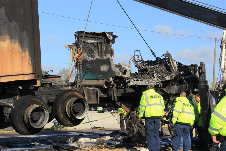 US HWY 19 Tractor Trailer Fire