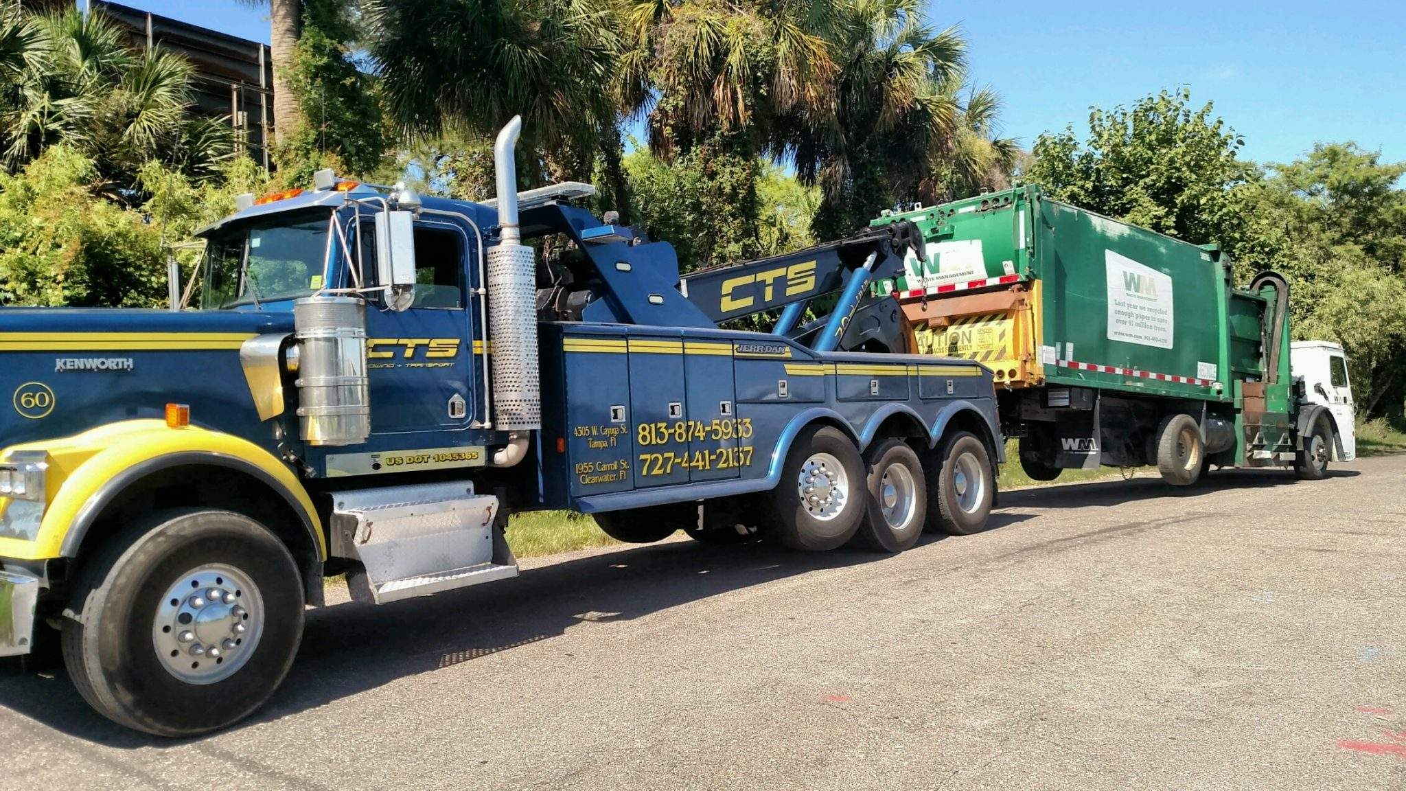 Heavy duty waste management by CTS Towing
